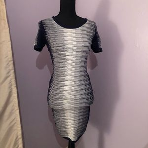 French Connection Navy/ White  Bodycon Dress US 8
